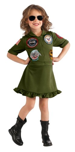 Top Gun Girl Flight Dress Costume Child -