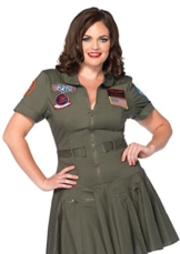 Leg Avenue Damen Plus Größe Top Gun Flight Kleid -