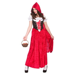 Deluxe Red Riding Hood Ladies Fancy Dress Costume Halloween -