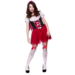 (L) Damen Little Dead Riding Hood Halloween Kostüm für Fancy Dress Damen L -
