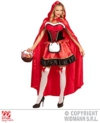 Ladies Deluxe Red Riding Hood Fancy Dress Costume -