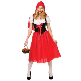 Red Riding Hood Costume Woman Fancy Dress Medium -