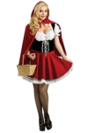 ShallGood Damen Rotkäppchen Halloween Weihnachten Performance Kleid Hoodie Schal Kostüm Pirat Hexe Cosplay Dress Kleid Passt Set Zombie Ghost Kleid Dress Rotkäppchen De 50 -